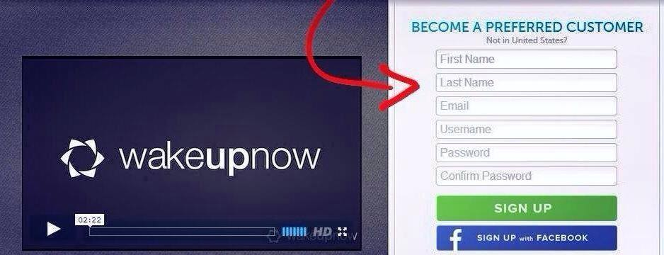 Wake Up Now Scam sign up as a PC