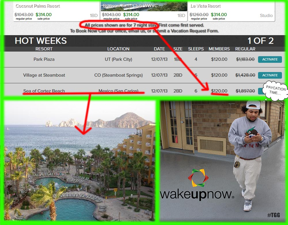 wakeupnow vacation club
